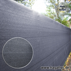 Sichtschutznetz 370 gr/m² anthrazitgrau 25m Rollen
