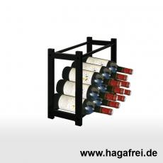 CUBE Multifunktionsregal 50 x 50 x 25 cm schwarz RAL9005