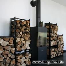 CUBE Multifunktionsregal 100 x 100 x 25 cm schwarz RAL9005