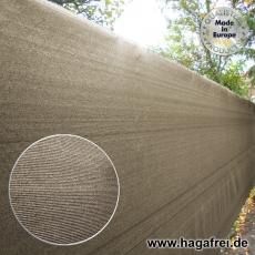 Sichtschutznetz 370 gr/m² sandgrau 25m Rollen
