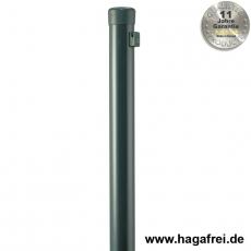 Zaunpfahl Ø34mm verzinkt + grün mit Drahthaltern