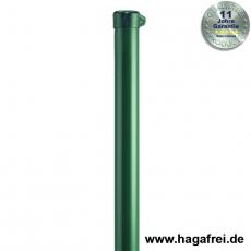 Zaunpfahl Ø48mm verzinkt + grün mit Ösenkappe