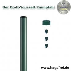 Do-It-Yourself Zaunpfahl Ø42mm verzinkt + grün