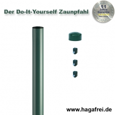 Do-It-Yourself Zaunpfahl Ø48mm verzinkt + grün