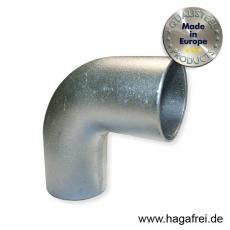 L-Bogen aus Aluminium für Ø 60mm Barrieren - Rohre