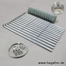 extra-stabiles Zaunset Pfosten Ø60mm dickverzinkt 50X50x3,0mm 1m75 X 25m