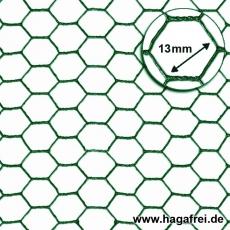 Sechseckgeflecht grün 13x1,0mm 5m Rollen