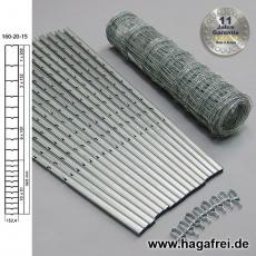 W-Forstprofil Wildschutzzaunset 160-20-15 1,60X50m
